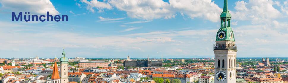 Ein sonniges Stadtbild von München