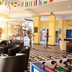 Die Lobby von A&O Dortmund