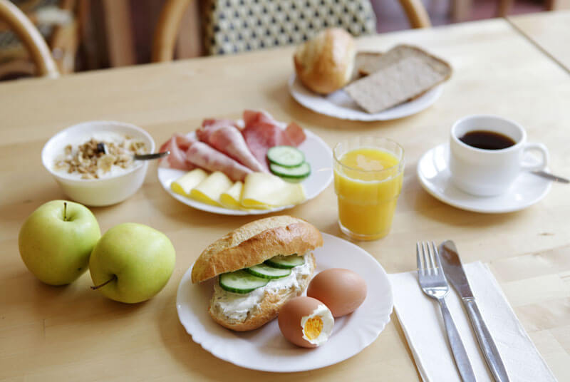 Delicious breakfast for the whole family; breakfast for children under 6 years is free of charge!