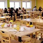Der Frühstücksraum von A&O Frankfurt