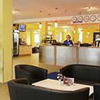 Die Lobby von A&O Frankfurt