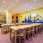 Frühstücksraum von A&O Hamburg