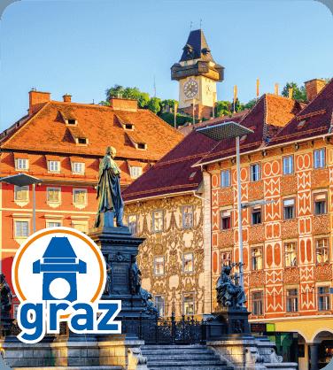 Hodinová věž - Graz