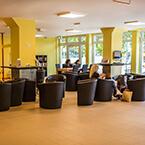 Die Lobby von A&O Stuttgart