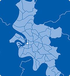 Lageplan von Düsseldorf mit A&O Hostels