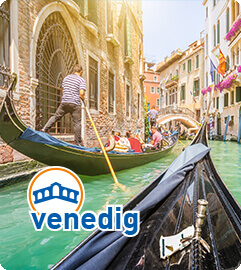 Traditionelle Gondelfahrt in Venedig