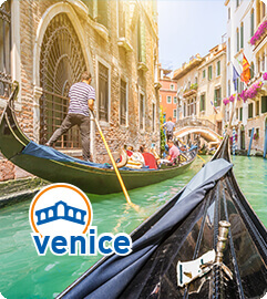 Traditional gondola ride in Venice