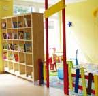 Spielbereiche für die Kleinen im Sichtbereich der Eltern