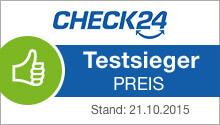 Siegel Check24 Testsieger Preis