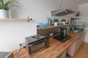Gästeküche, hier in Graz